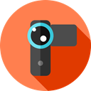 digital camera, camcorder, technology, electronics, domestic, video camera Coral icon