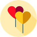 birthday, party, balloons, decoration, Celebration, new year, Birthday And Party Moccasin icon
