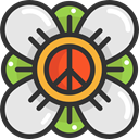 Flower, loving, Pacifism, love, hippie, nature, Peace DarkSlateGray icon