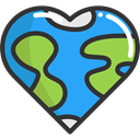 Peace, loving, Earth Globe, Heart Shaped, Pacifism, love, miscellaneous, hippie DodgerBlue icon