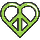 love, hippie, Peace, loving, Pacifism, Shapes And Symbols DarkSlateGray icon