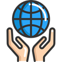 Hand, Hands, ecology, Ecology And Environment, Ecological, Planet Earth, Ecologic DarkSlateGray icon