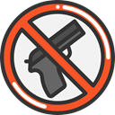 forbidden, prohibition, weapons, Not Allowed, Signaling DarkSlateGray icon