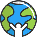 Ecology And Environment, global, Geography, worldwide, Maps And Flags, Planet Earth DarkSlateGray icon