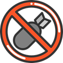 prohibition, Not Allowed, Signaling, Bombs, Forbbiden DarkSlateGray icon