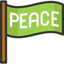 flags, Peace, symbol, Pacifism YellowGreen icon