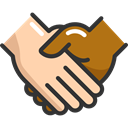 Agreement, deal, Handshake, Gestures, Hands And Gestures Black icon