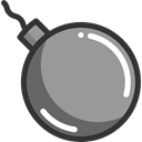 Terrorism, Bomb, explosive, miscellaneous, weapons, Detonation DarkGray icon