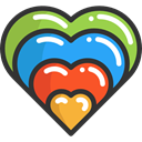 Heart, interface, Like, shapes, Peace, lover, loving, Love And Romance DarkSlateGray icon