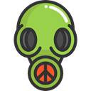 Respirator, Gas Mask, Chemical Weapon, miscellaneous, Tools And Utensils, Biological Hazard DarkSlateGray icon