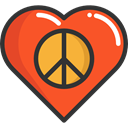 Peace, lover, loving, Shapes And Symbols, Heart, interface, Like, shapes Tomato icon