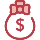 Dollar Symbol, Business And Finance, Bank, banking, money bag, Business, Money, Currency Sienna icon
