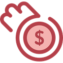 Business, Money, coin, Coins, Cash, stack, Currency, Business And Finance Sienna icon