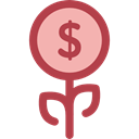 plant, Business, Money, Currency, investment, Bank, growth, Business And Finance Black icon