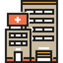 medical, Building, hospital, buildings, urban, Health Clinic, Architectonic, Architecture And City, Healthcare And Medical Tan icon
