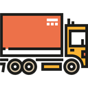 Delivery Truck, Cargo Truck, Delivery, transportation, truck, transport, vehicle, Automobile Black icon