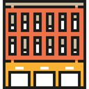 office, Building, city, town, buildings, real estate, urban, Architectonic, Office Block, Architecture And City Tomato icon