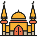 religion, buildings, Mosque, Architecture, islam, islamic, Monuments, Architecture And City Black icon