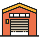 storage, industry, Stocks, stock, buildings, warehouse, Factories, Warehouses, Architecture And City Tomato icon