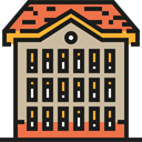 Block, Building, buildings, Apartments, real estate, residential, flat, Architecture And City Tan icon