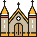 buildings, Monastery, Monument, Monuments, Architecture And City, Christianity, church, religion Tan icon