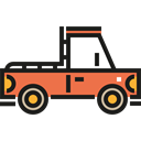 transportation, transport, vehicle, Pickup, pickup truck Black icon