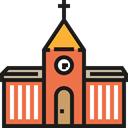 church, religion, temple, buildings, Chapel, christian, Architecture And City Black icon