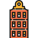 Block, Building, buildings, Apartment, Apartments, residential, flat, Architecture And City Black icon