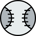 baseball, sports, Sports Ball, Team Sports, Sports And Competition Lavender icon