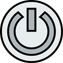 Energy, Multimedia, power, interface, ui, power button, power on, Multimedia Option, Start Button Lavender icon