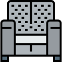 Seat, Chair, furniture, Armchair, Comfortable, Furniture And Household Silver icon