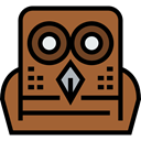 bird, hunter, owl, Animals Sienna icon