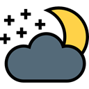 miscellaneous, night, Cloud, weather, Cloudy, sky, meteorology, Atmospheric, Cloudy Night DimGray icon