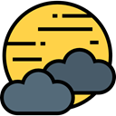 night, Cloud, weather, Cloudy, nature, sky, meteorology, Atmospheric, Cloudy Night SandyBrown icon