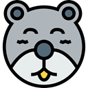 Animal, bear, Animals, children, Kid And Baby, teddy bear, childhood, puppet, Fluffy Silver icon