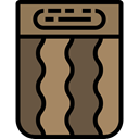 Log, wooden, wood, nature Gray icon