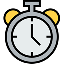 Clock, time, timer, alarm clock, Tools And Utensils, Time And Date Lavender icon