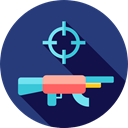 Game, play, Aim, gaming, weapon, playing, video game, leisure, Rifle, videogame DarkSlateBlue icon