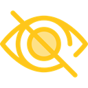 Body Part, Ophthalmology, optical, ui, Blind, Multimedia Option, Multimedia, Hide, interface, Eye Gold icon