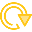 Arrows, Reload, Orientation, Circular Arrow, loading, Direction, ui, Multimedia Option Gold icon