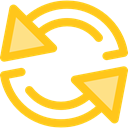 Multimedia, Arrows, Reload, refresh, Orientation, Direction, ui, Multimedia Option Gold icon