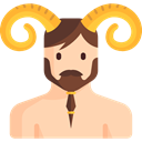 people, user, Character, Avatar, legend, Fantasy, Mythology, Folklore, Fairy Tale, Satyr PeachPuff icon