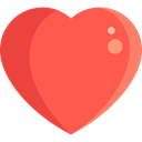 Heart, interface, Like, shapes, Peace, lover, loving, Valentines Day, Love And Romance Tomato icon