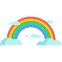 nature, spectrum, Atmospheric, sun, weather, Rainbow Black icon