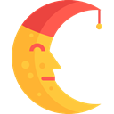 Astronomy, Half Moon, Moon Phase, Moon Phases, Moon, weather, nature, meteorology, miscellaneous Black icon