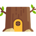 nature, legend, Fantasy, Folklore, Fairy Tale, Stump House Sienna icon