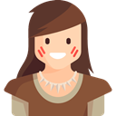 people, Character, woman, Girl, Avatar, legend, Fantasy, warrior, Folklore, Fairy Tale Sienna icon