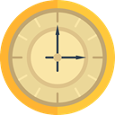 Clock, Time And Date, time, hour, Antique, Elegant Khaki icon