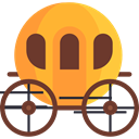 transportation, transport, legend, Fantasy, Carriage, Folklore, Fairy Tale SaddleBrown icon