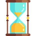 Clock, time, Hourglass, waiting, Time And Date Black icon
